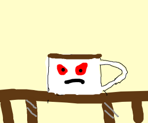 Angry cup of coffee