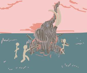 CHALLENGE: A prehistoric scene