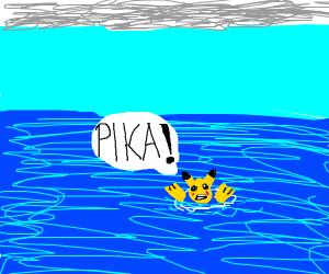 drowning pikachu