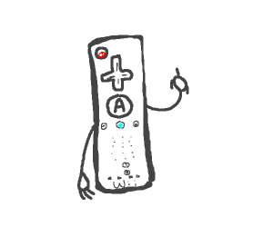 Wii controller giving you the middle finger