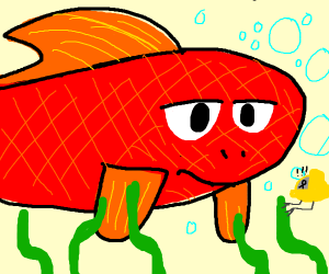 Giant red fish