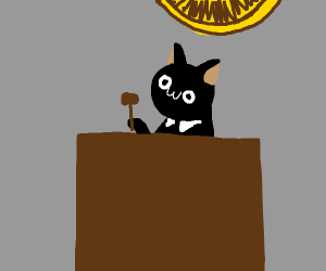 owo cat is judge in court
