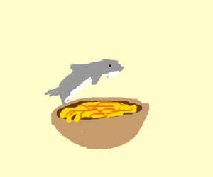 Dolphin jumping over Noodles