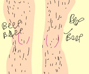 legs go beep beep