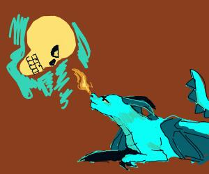 Flying Skull vs Smol Dragon