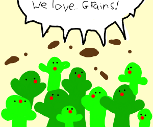 Green People Like Grains