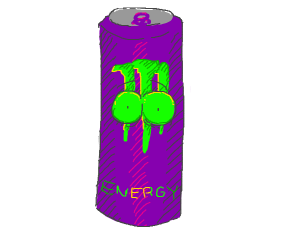 green eyed purple monster
