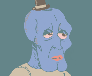 Handsome Squidward with FNAF hat