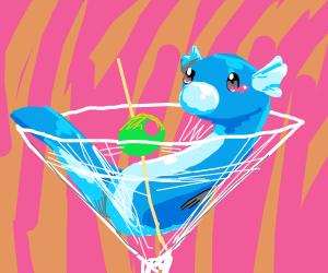 Dratini(pokemon) in a wine glass