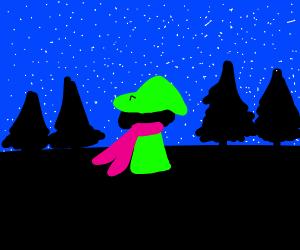 Ralsei by the night sky