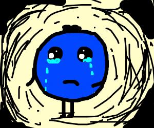 Crying blueberry blob