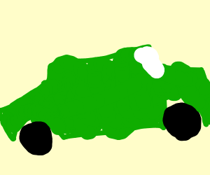 green car go vroom vroom