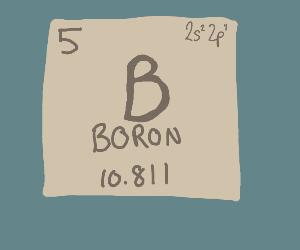 Boron on the periodic table