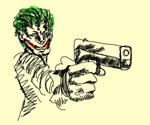 the joker with guns