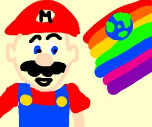 rainbow mario small world