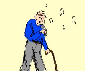 Old man singing