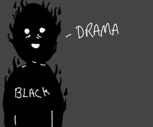 black person says drama