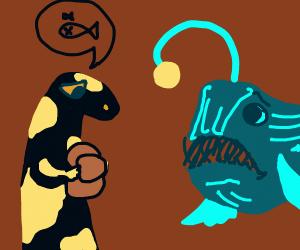 Salamander tells deep sea fish bad news