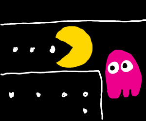 Pacman being chased by Pinky