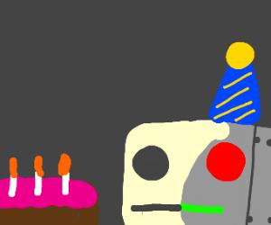Robot loves cake