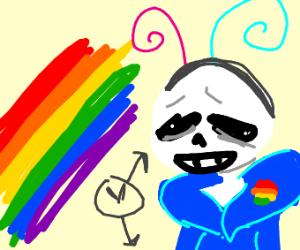 sans celebrating gay pride