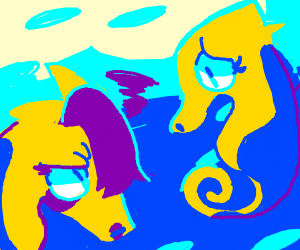 Emo seahorse is angry at mother