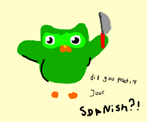 Green Owl yells at you for not knowin Spanish