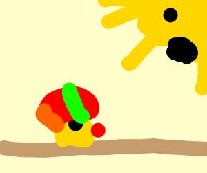 yellow thing picks up dirt