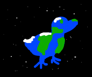 Duck shaped earth