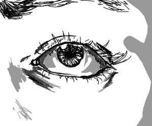 Extremely detailed eye