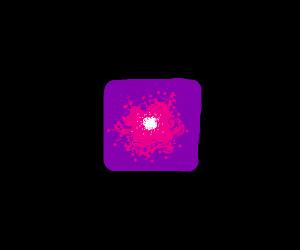 Purple cube of power