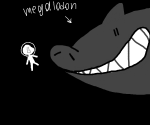 Scubadiver encounters Megalodon