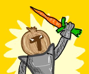 onion shaped helmet wearing knight.