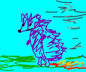 Fast Purple Hedgehog