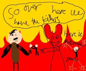 Satan gives Hitler a tour of hell