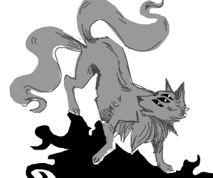 Double tailed multieyed fox
