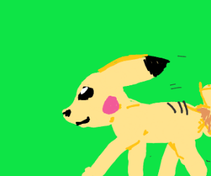 Sprinting pikachu