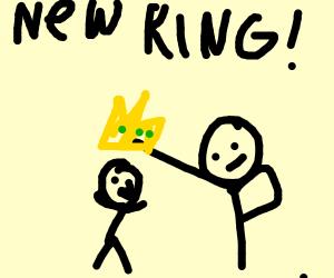 Grumpy old General declared King