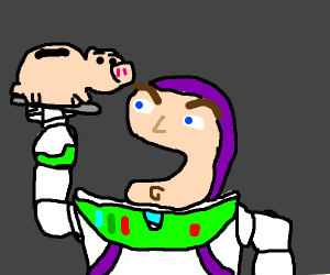 Buzz Lightyear eating Ham