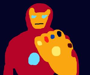 iron man uses the infinity gauntlet