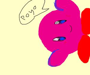 Sideways Kirby poyo