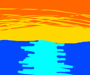 afternoon sky across ocean
