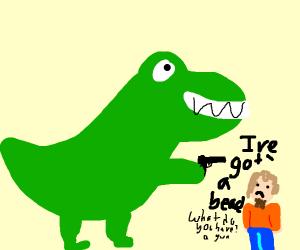 T-Rex with a gun