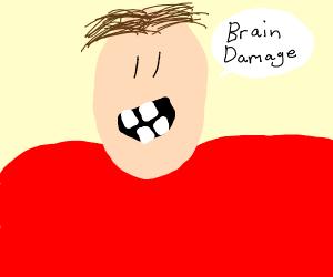 Man calmly refers to his brain damage