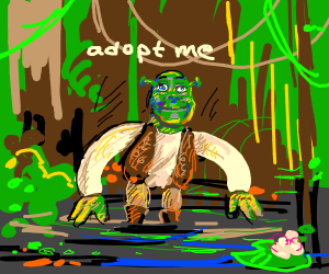 a wild shrek appears will you adopt it