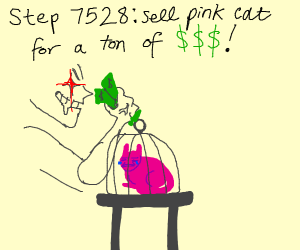 step 7527 realize that your cat is pink