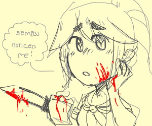 Yandere-chan gets noticed by her senpai