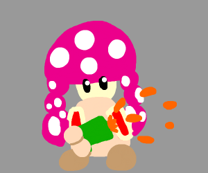 The girl from splatoon fused with toadette