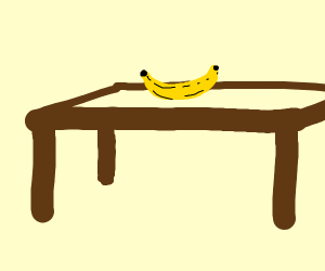 Banana on a Table