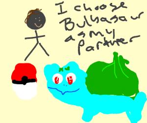 Picking Bulbasaur as your starter Pokemon